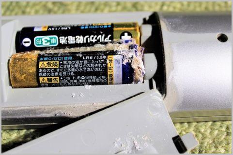 マンガンよりアルカリ電池の方が液漏れしやすい