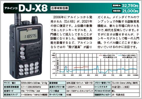 「DJ-X8」はワンプッシュで盗聴発見機能が作動