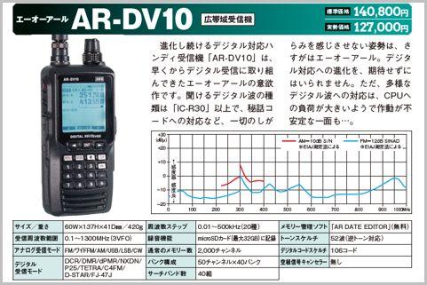 エーオーアール「AR-DV10」(広帯域受信機)
