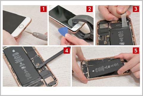 iPhone8を格安の互換バッテリーに交換する手順