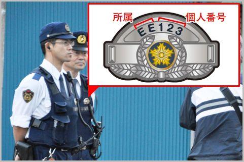 警察官に会ったら確認すべき階級章と番号標とは