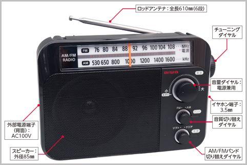 3千円ちょいで買えるアイワ「高コスパ」ラジオ