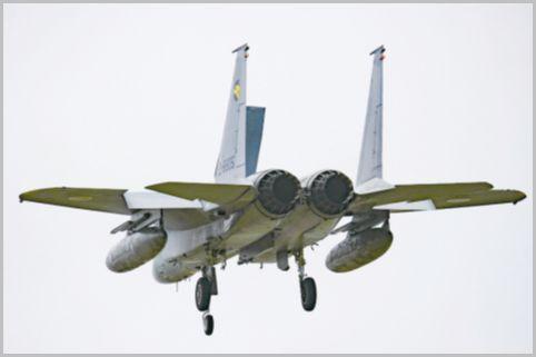 F-15戦闘機を配備する小松基地の撮影ポイント