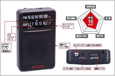 細かな選局がシビアな千円ラジオのニューカマー