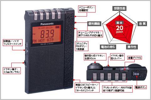 イヤホン巻取り式の高級ポケットラジオの集大成