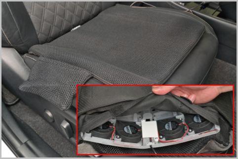 車のシート蒸れを解消するファン付きクッション